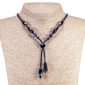 Double Strand Hematite Beads Designer Necklace