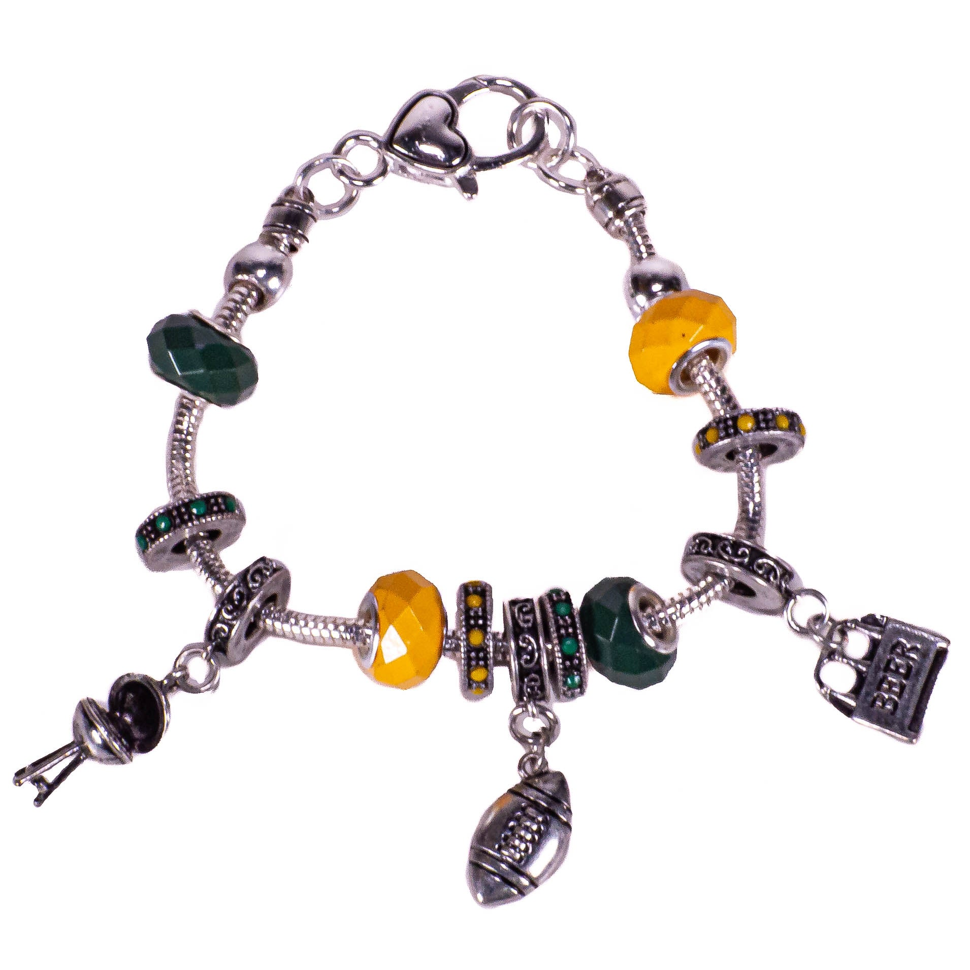 Snake Chain Football Charmable Bracelet