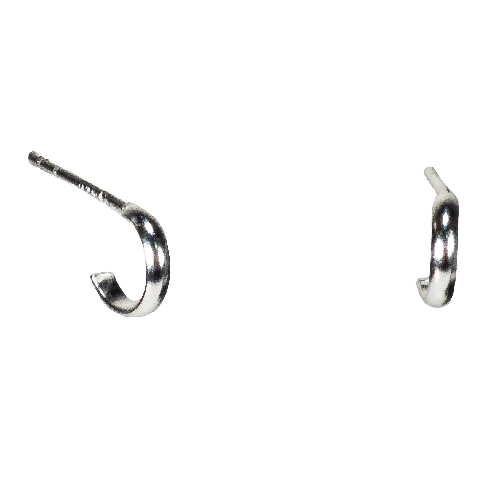 Sterling Silver Open Hoop Stud Earrings