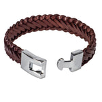 Load image into Gallery viewer, Braided Brown Leather Bracelet