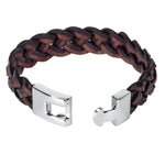 Load image into Gallery viewer, Braided Mixed Black & Dark Brown Leather Bracelet