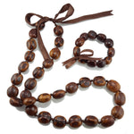 Load image into Gallery viewer, Natural Kukui Nut Lei Necklace and Bracelet Set