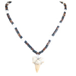 Load image into Gallery viewer, Shark Tooth Pendant on Coconut Beads and Nassa Shells Necklace