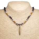 Load image into Gallery viewer, Wood Surfboard Pendant on Black Coconut Beads Necklace