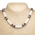 Load image into Gallery viewer, Puka Shell and Brown Coconut Beads Necklace