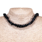 Load image into Gallery viewer, Black Puka Chip Shells Necklace & Anklet Set