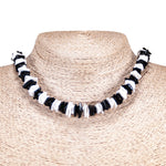 Load image into Gallery viewer, Black and White Puka Chip Shells Necklace & Anklet Set