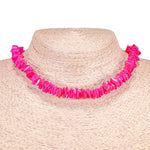 Load image into Gallery viewer, Fuchsia Puka Chip Shell Beads Necklace and Anklet Set