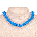 Load image into Gallery viewer, Dark Blue Puka Chip Shell Beads Necklace and Anklet Set