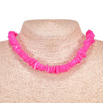 Load image into Gallery viewer, Neon Pink Puka Chip Shell Beads Necklace and Anklet Set