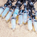 Load image into Gallery viewer, Opalite Pendant on Adjustable Rope Necklace
