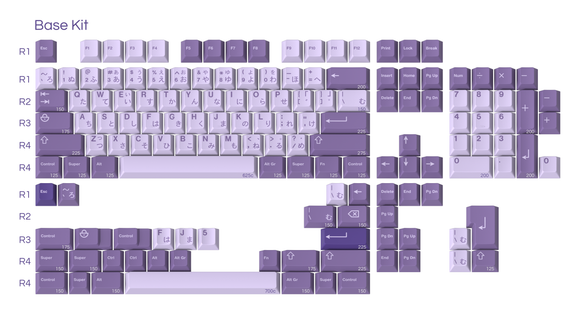 GMK Frost Witch Keycap Set Extras