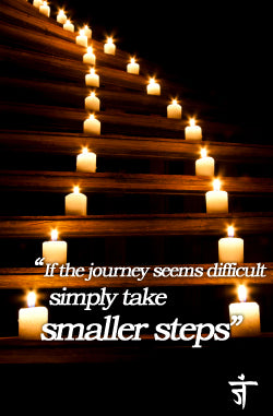 Yoga Journey Steps and Candles