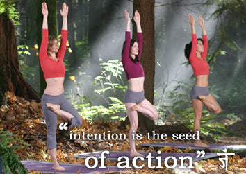 Namaste Yoga Tree Variation Intentions Quote