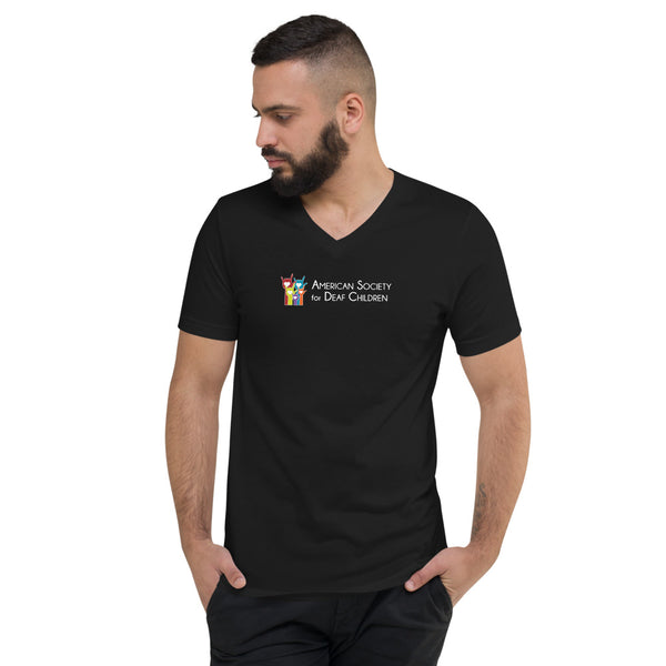 Unisex Short Sleeve V-Neck T-Shirt - Original Logo