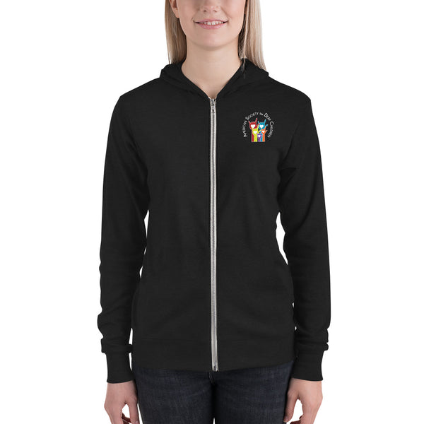 Unisex Lightweight Zip Hoodie (Black/Charcoal/Grey)