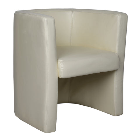 Faux office tub chair
