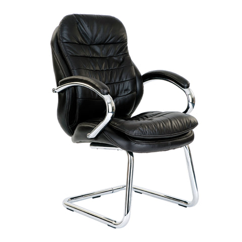 Leather cantilever office chair