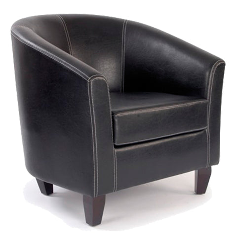 leather tub office chair
