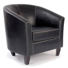 Metro Leather Effect Single Seat Tub Sofa