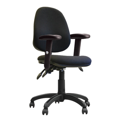 Adjustable arms op[erator chair