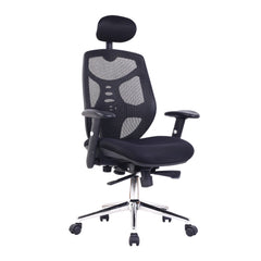 Mesh back office chair with headrest