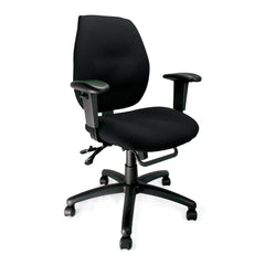 Black operator chair