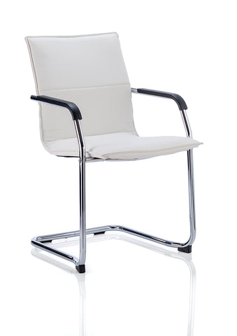 Echo Cantilever Chair Black Bonded Leather With Arms