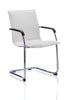 Image of Echo Cantilever Chair Black Bonded Leather With Arms