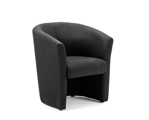 black ltub chair