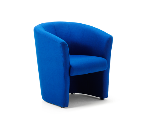 Blue waiting room chair