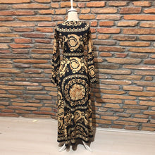 Load image into Gallery viewer, Early Autumn Long Sleeve V-Neck   Print  Maxi Dress