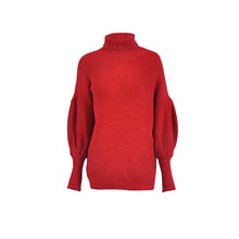 Load image into Gallery viewer, Collared Lantern Sleeve Sweater