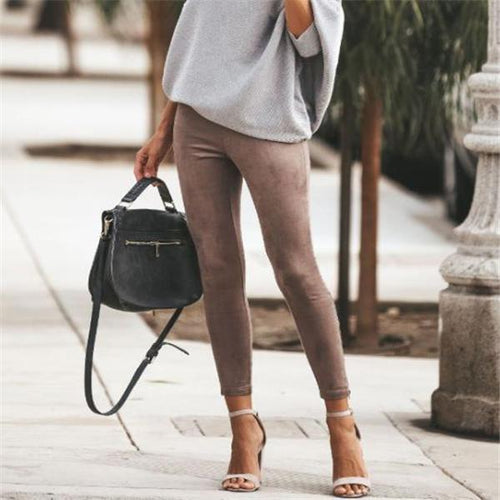 Fashion Casual Daily Solid Color Close-Fitting Pants