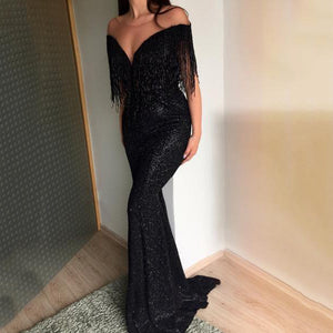 Sexy V-Neck Sleeveless Slim Evening Dresses