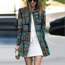 Load image into Gallery viewer, Fashion Printed Colour Long Sleeve Coat