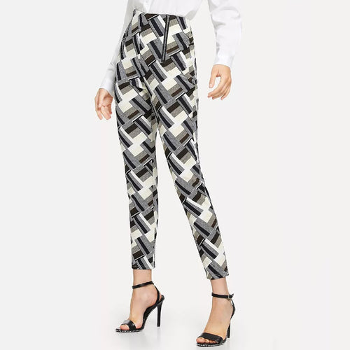 Fashion Color Printed Casual Pants