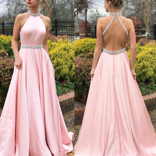 Halter Back Lucy Maxie Gown