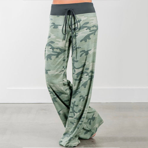 Casual Loose Floral Print Long Pant