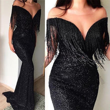 Load image into Gallery viewer, Sexy V-Neck Sleeveless Slim Evening Dresses