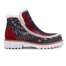 Load image into Gallery viewer, Leather Stitching Wool Hand-Colored Casual Women's Boots