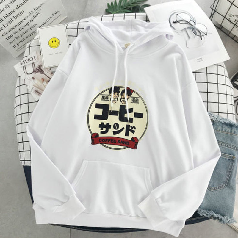 Fashion solid color printing hoodie