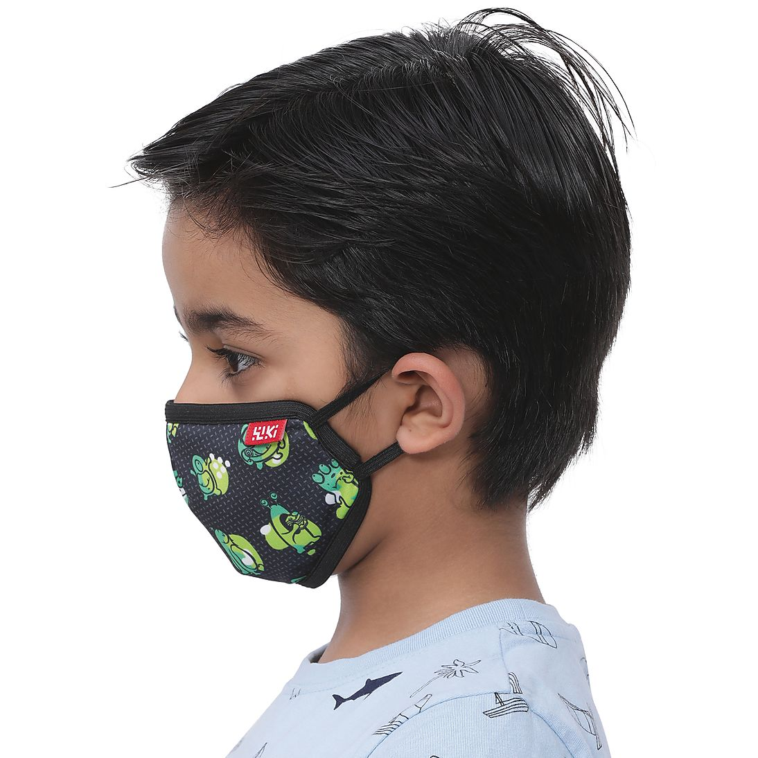 Wiki Champ Mask – Monster Black  – PACK OF 1