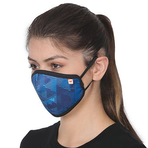 SUPERMASK W95 Plus Reusable Outdoor Respirator - SUBLIMATION TRIZI BLUE - Pack of 1 - De Bawa Inc.
