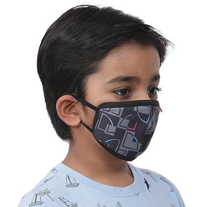 Wiki Champ Mask – Puzzle Black  – Pack Of 7 - De Bawa Inc.