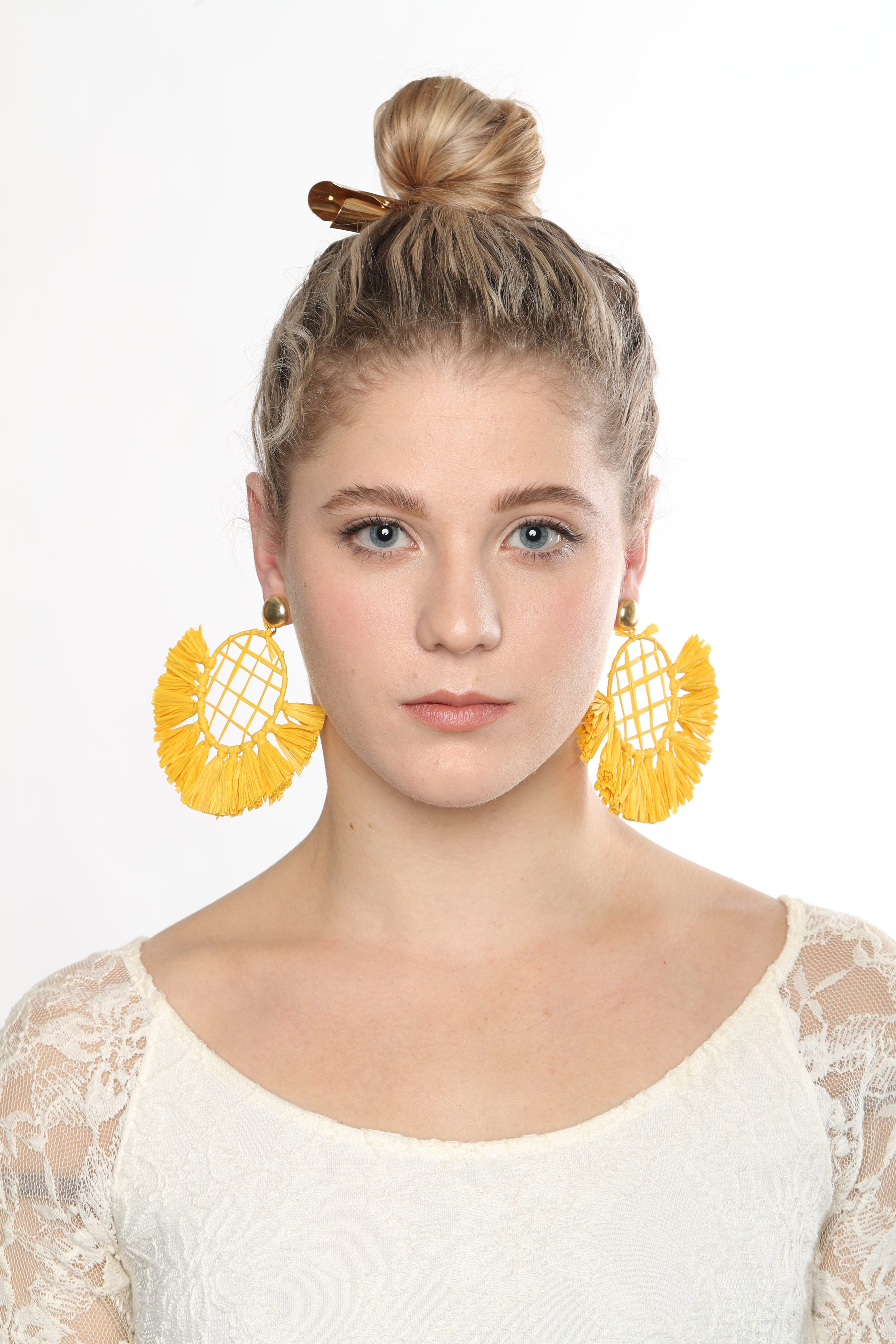 Esprit Libre Yellow Statement Earrings - De Bawa Inc.