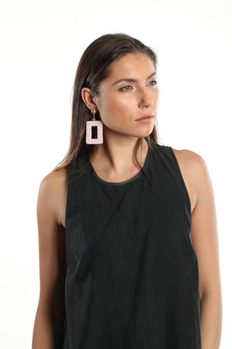Plath Pink Statement Earrings
