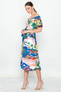 A Printed Woven Dress