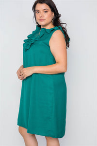 Plus Size Lace Insert Shift Midi Dress