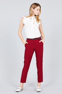 Classic Woven Pants W/belt - De Bawa Inc.